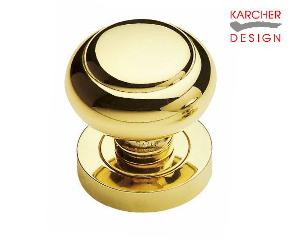 Karcher Polished Brass Knob