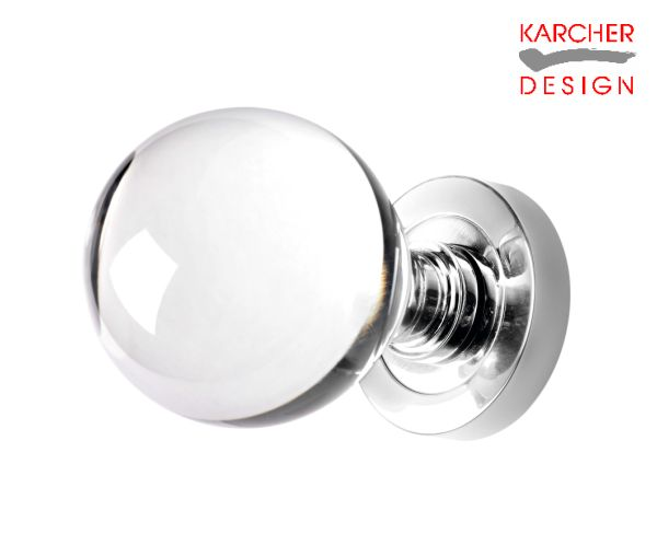 Karcher Polished Stainless Steel Crystal Knob